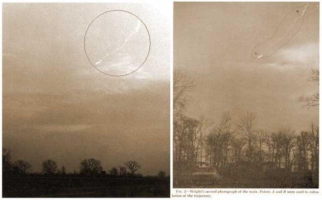 Două fotografii făcute din locații diferite aveau să confirme faptul că nu e vorba de un... meteorit