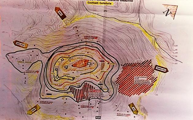 Harta întocmită de specialiștii români