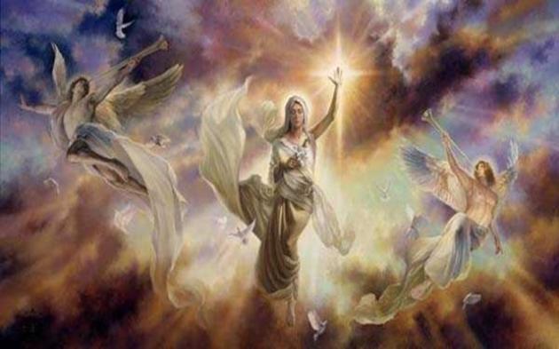 Îngerii și Steaua ce avea să vestească nașterea Mântuitorului Iisus Hristos