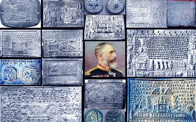 Câteva din tăblițele de aur de la Sinaia, copiate în plumb, ca urmare a deciziei regelui Carol I. De ce a luat această decizie? Ce adevăruri transmit... încât a hotărât să le topească?