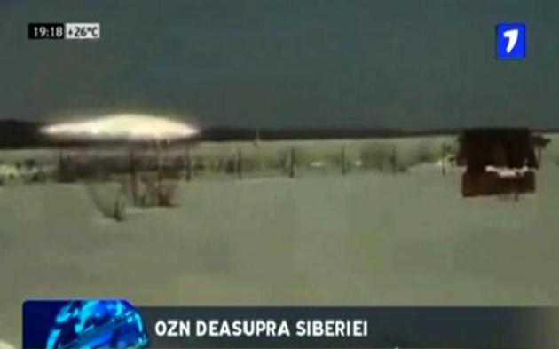 OZN surprins în momentul decolării de o televiziune particulară Rusă în Siberia