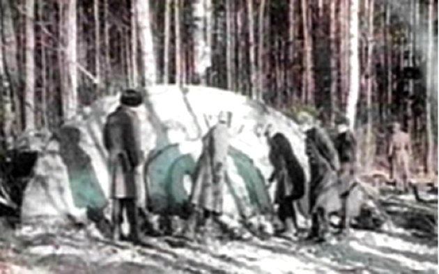 Locul unde au fost găsite trupurile pietrificate ale militarilor